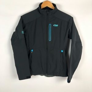 Outdoor Research Full Zip Black Jacket Size: Small